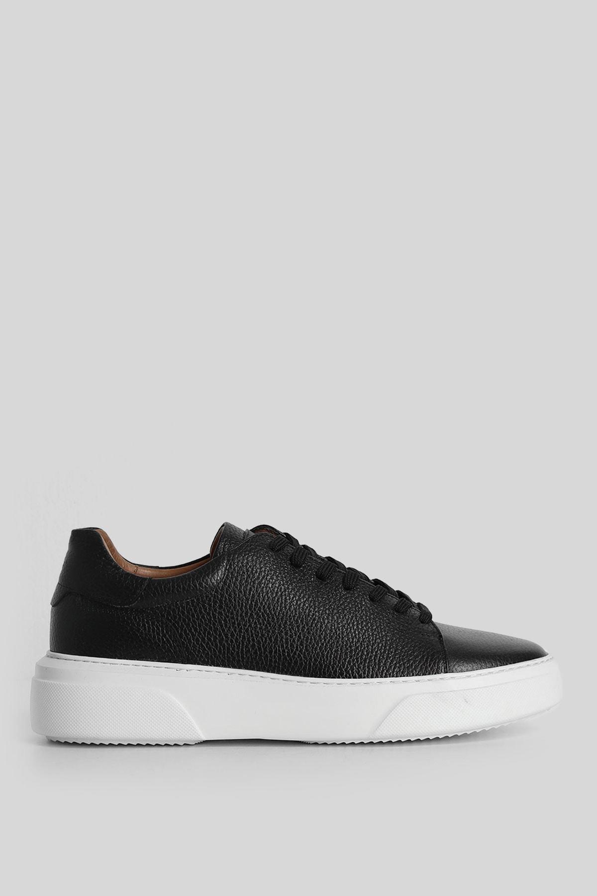 Lufian Tommy Deri Sneaker Siyah 1