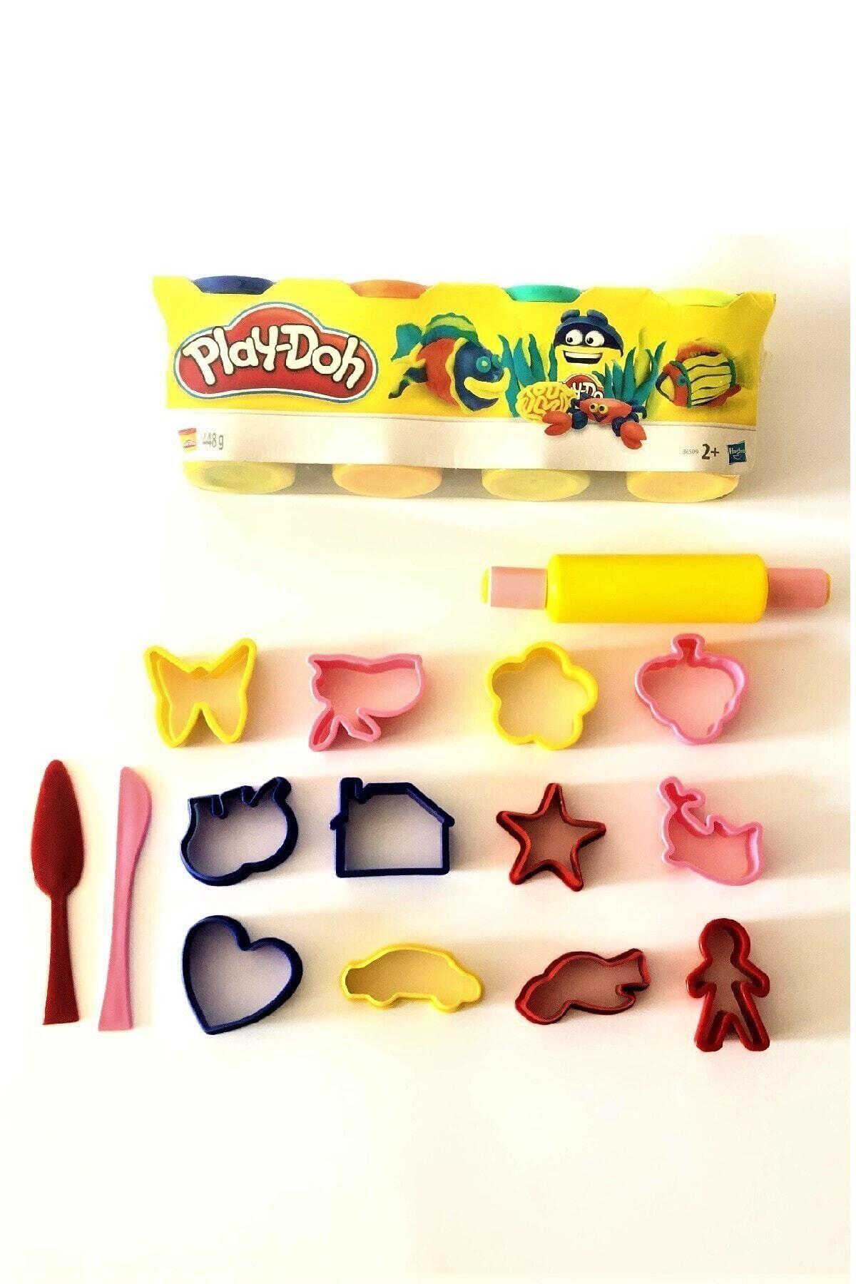 Play Doh Oyun Hamuru 4'lü Set 15 Parça Kalıp Seti Hediyeli 450 g 1