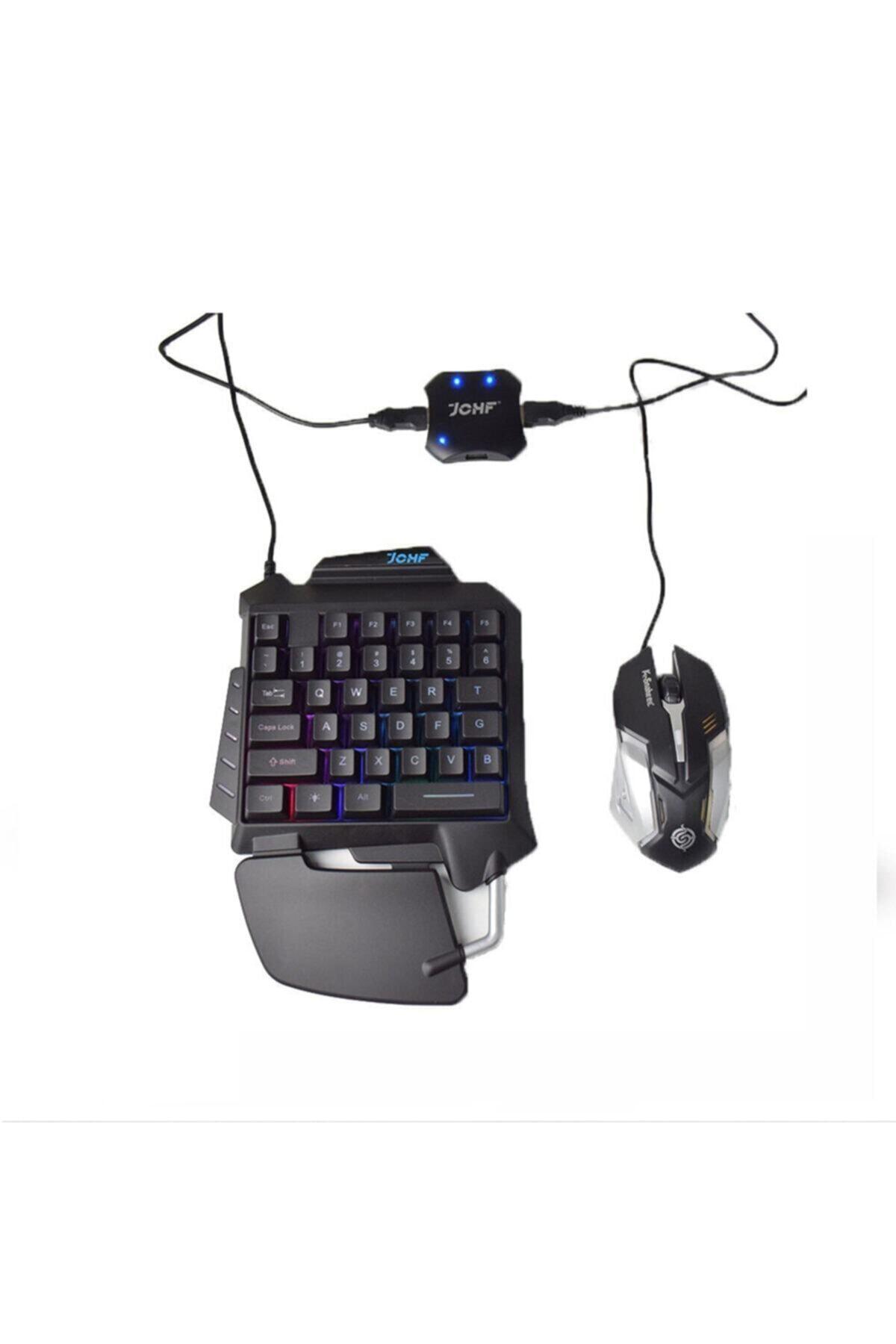 Kılıfsiparis Pubg Klavye Jchf-68 3 In 1 Klavye Mouse Bağlantılı Mobil Oyun Seti 1