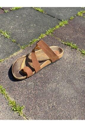Ekol Ayakkabi Kadın Taba Tek Parmak Terlik