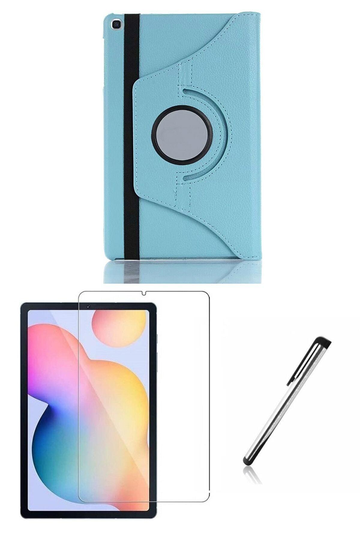 Esepetim Samsung Galaxy Tab S6 Lite P610 Turkuaz Dönerli Tablet Kılıf Seti (10.4 Inç) 1