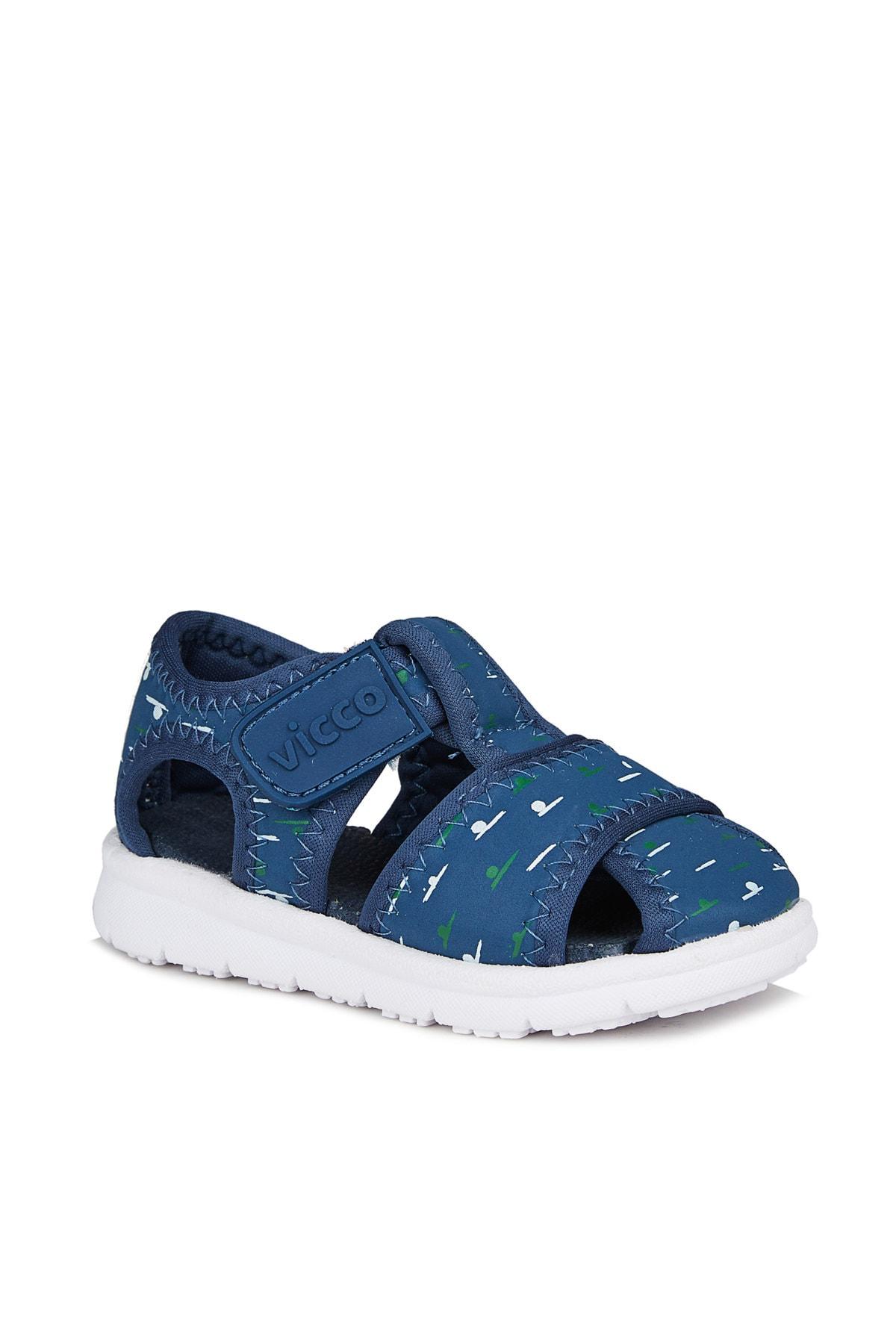 Vicco Bumba Erkek Bebe Lacivert Sandalet 1