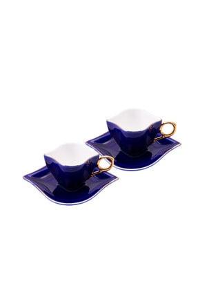 Emsan Sonsuz Aşk 2 Kişilik Kahve Fincan Takımı Kobalt