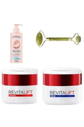 L'Oreal Paris L'oréal Paris Revitalift Yaşlanma Karşıtı Gece- Gündüz Kremi 40 Yaş Yüz Tem.sütü Ve Masaj Taşı