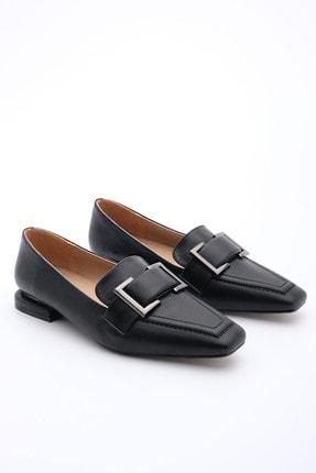 Marjin Kadın Siyah Loafer Ayakkabı Kelar