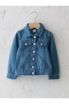 LC Waikiki Kız Çocuk Mavi Jean Ceket