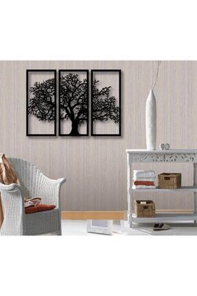 artonan Ahşap Lazer Kesim 3 Parça Ağaç Duvar Dekoru Süs Tablo