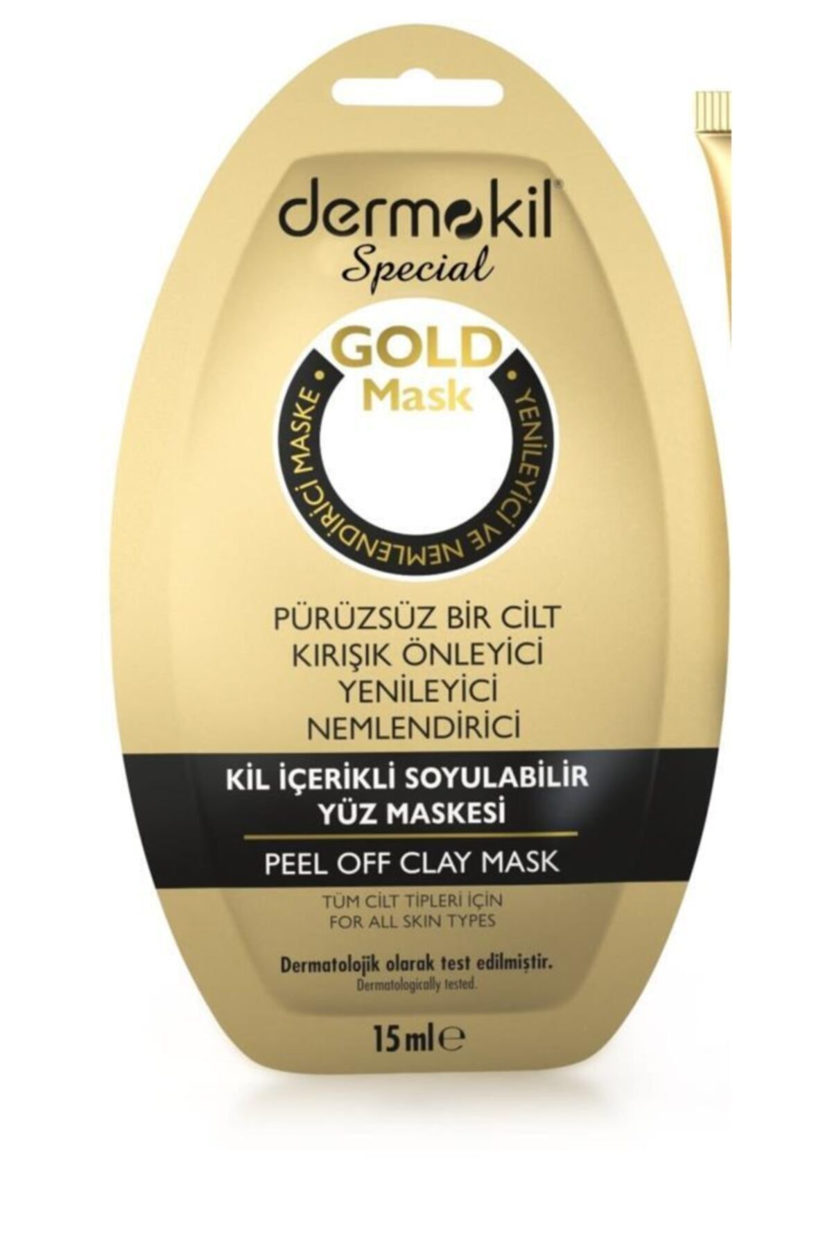 Dermokil Special Soyulabilir Kil Içerikli Gold Maske Tüm Cilt Tipleri 15 ml 1