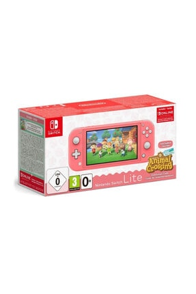 Nintendo Switch Lite Pembe Animal Crossing Oyunlu + 3 Ay Online Üyelik