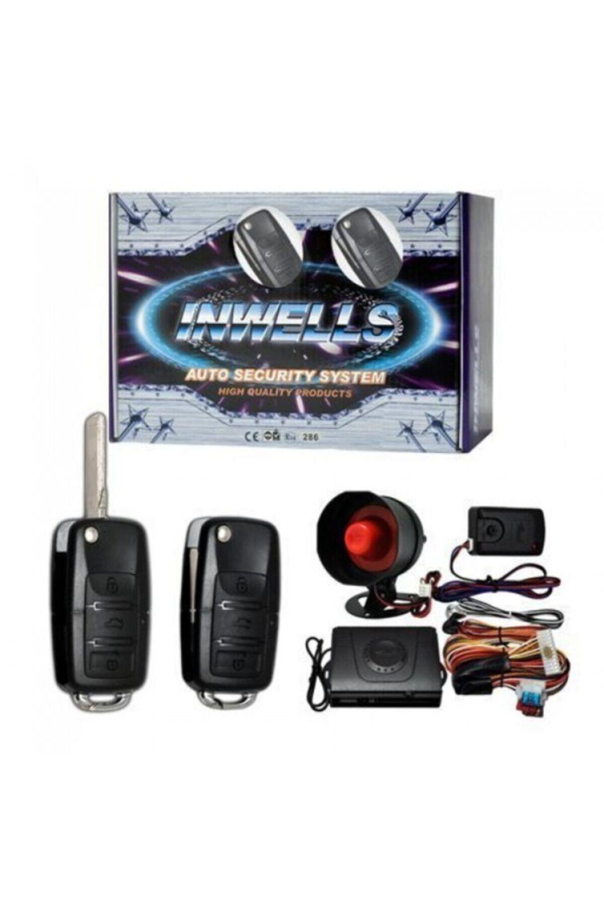 Inwells 12 V Oto Alarm Sistemi Sustalı Kumandalı 1