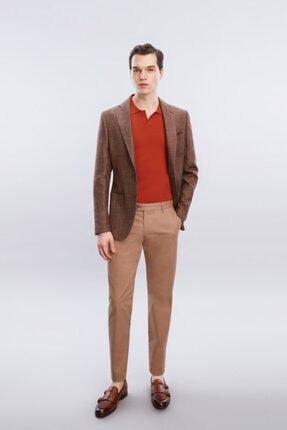 W Collection Kahverengi Mıcro Desen Ceket
