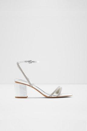 Aldo Kadın Gümüş Abiye Topuklu Sandalet