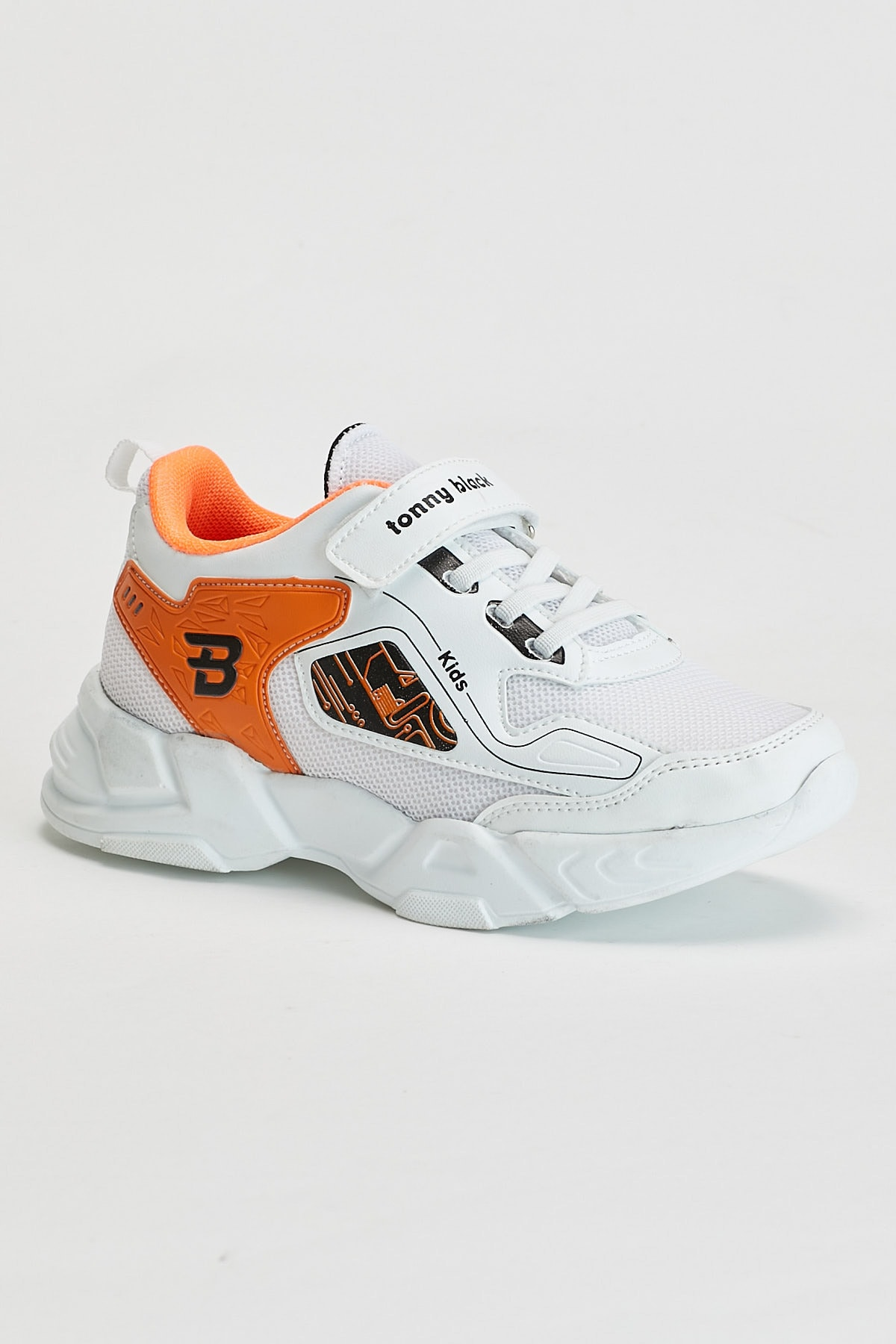 Tonny Black Beyaz Oranj Çocuk Spor Ayakkabı Tbz31