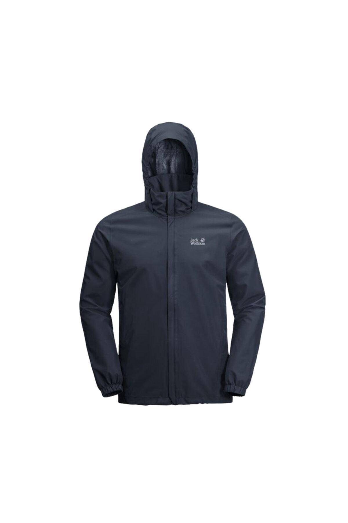 Jack Wolfskin Erkek Lacivert Stormy Point Jacket Outdoor Ceketi M 2