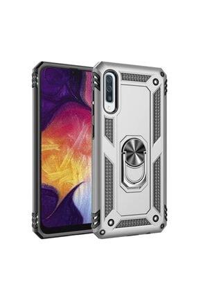 NewFace Galaxy A50 Gümüş Renkli Sofya Stantlı Kılıf