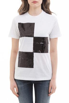Emporio Armani Kadın  Payet Detaylı Kısa Kollu T-shirt