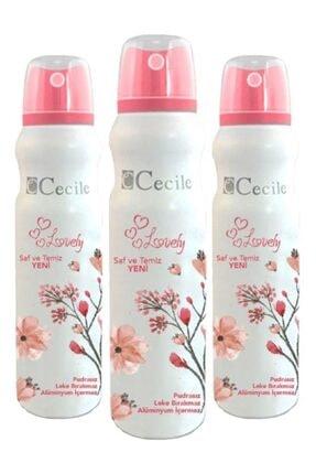 Cecile Lovely Deodorant 150ml X3