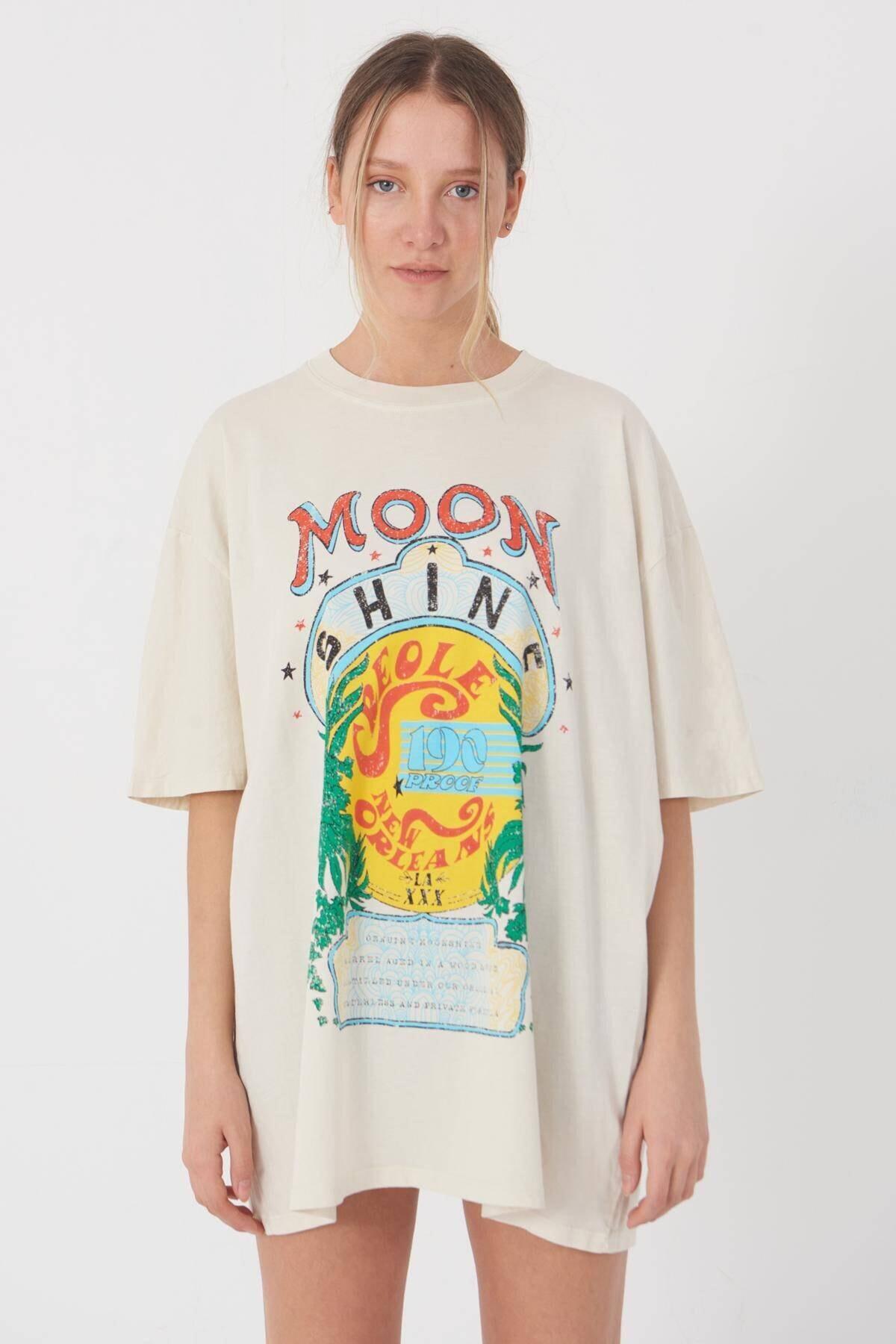 Addax Baskılı T-shirt P9428 - T8 2