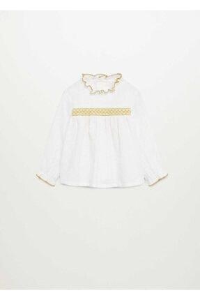 MANGO Baby Işleme Detaylı Gömlek