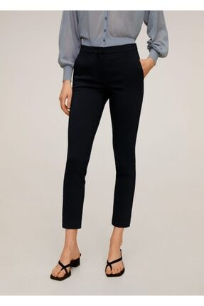 MANGO Woman Kadın Lacivert Kısa Paçalı Skinny Pantolon 67080514
