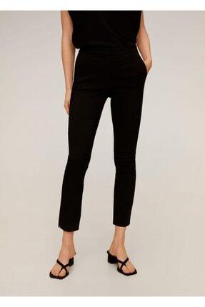 MANGO Woman Kadın Siyah Kısa Paçalı Skinny Pantolon 67080514