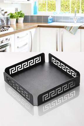 Manor Black Serisi Metal Yatay Peçetelik 18 x 18 cm