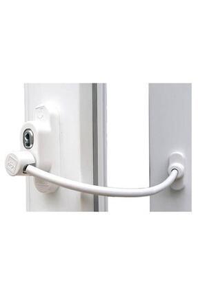Penkid Beyaz Çelik Halatlı Kablolu Pvc Pencere Emniyet Çocuk Güvenlik Kilidi