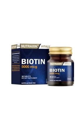 Nutraxin Biotin 5000 Mcg Takviye Edici Gıda 30 Tablet