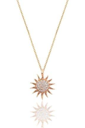Söğütlü Silver Gümüş Rose Güneş Kolye