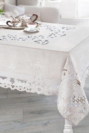 Madame Coco Evelia Masa Örtüsü - Bej 170x350 Cm