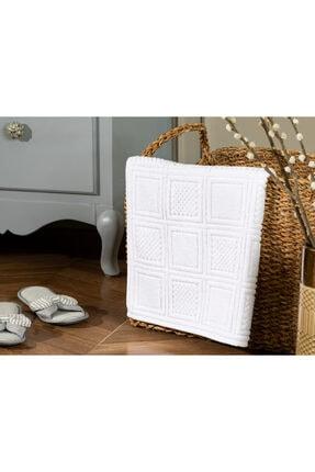 Madame Coco Noemine Ayak Havlusu - Beyaz - 50x80 Cm