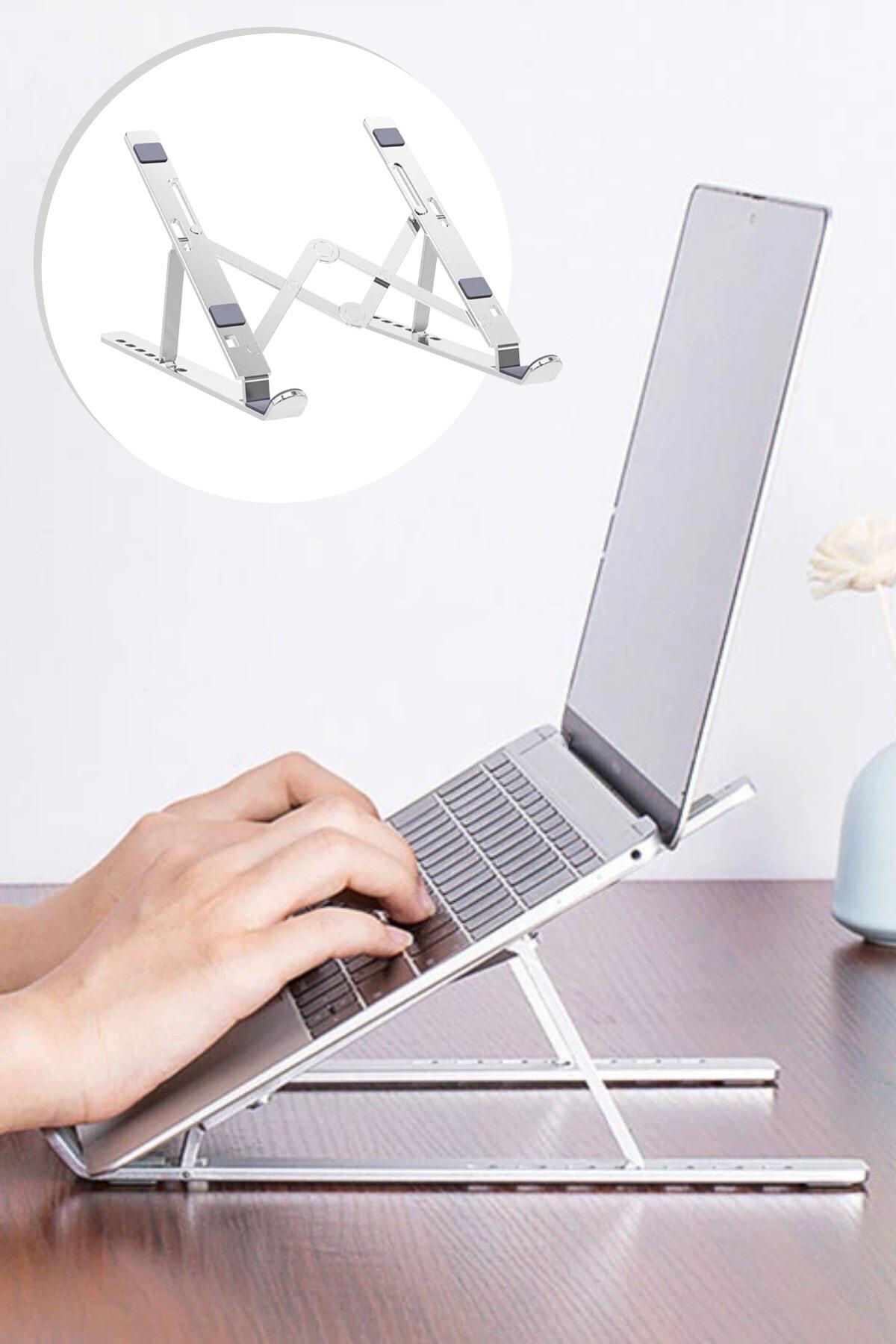 Buffer Metal Ayarlanabilir Dizüstü Destek Tabanı Tamamen Katlanabilir Taşınabilir Laptop Yükseltici 1
