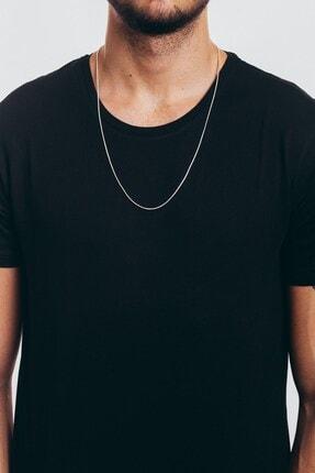 MedBlack Jewelry Gümüş Renk Unisex Yılan Zincir Kolye