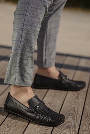 Daxtors Erkek Siyah Günlük Ortopedik Loafer Ayakkabı