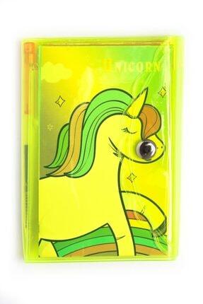VUKİ Unicorn 3 Bölmeli Mini Kalemli Defter Seti