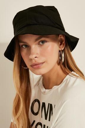 Y-London Kadın Siyah Bucket Şapka 13372