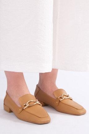 Marjin Kadın Camel Loafer Ayakkabı Nisay
