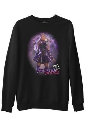 Lord T-Shirt Unisex Siyah Ariana Grande Uzun Kol Sweatshirt
