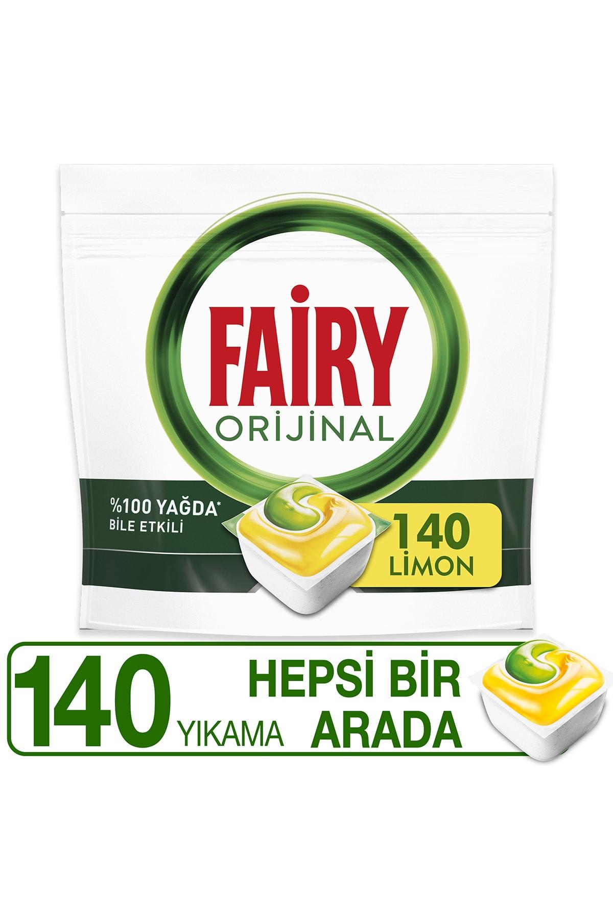 Fairy Hepsi Bir Arada 140 Yıkama Bulaşık Makinesi Deterjanı Kapsülü Limon Kokulu 1