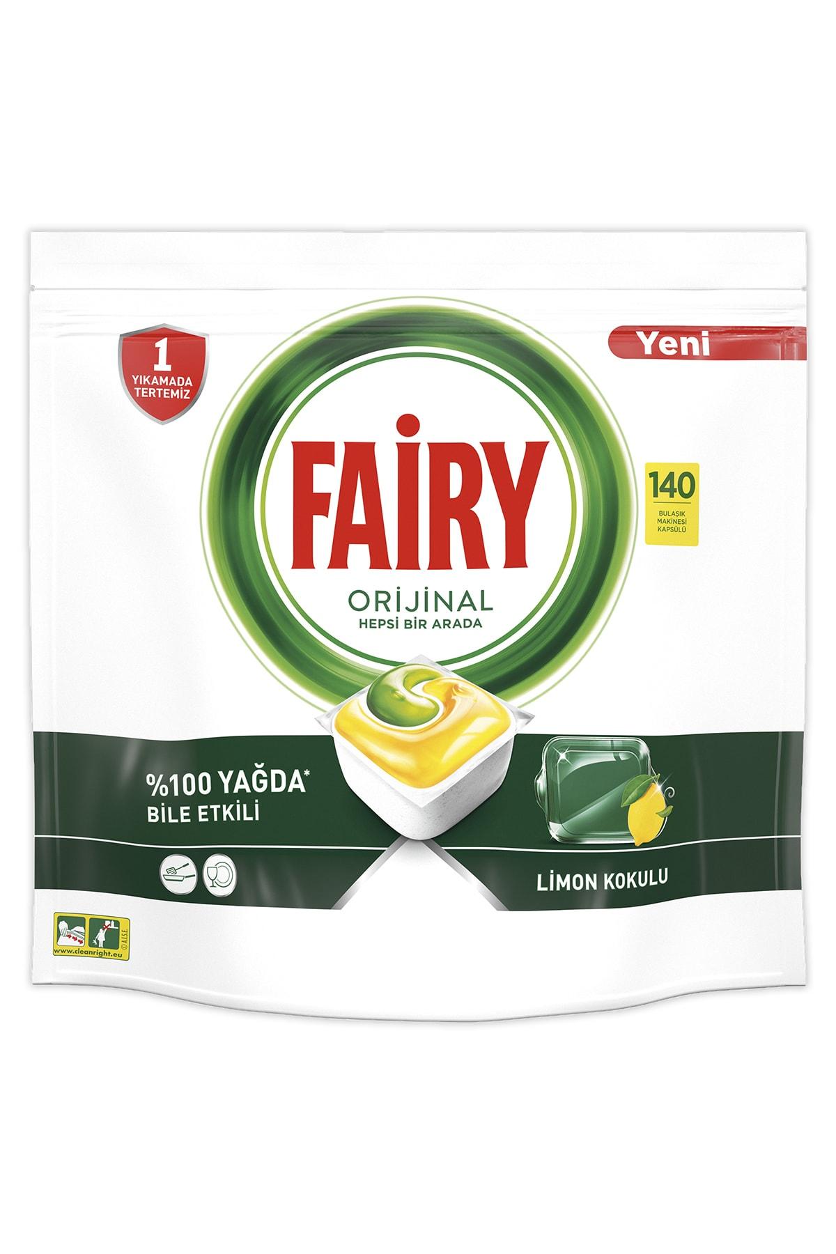 Fairy Hepsi Bir Arada 140 Yıkama Bulaşık Makinesi Deterjanı Kapsülü Limon Kokulu 2