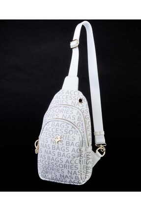 NAS BAG'S Kadın Beyaz Body Bag Bel Çanta