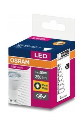 Osram Gu10 Duylu 5w Led Ampul 2700 Kelvin Sarı Işık 10lu Paket