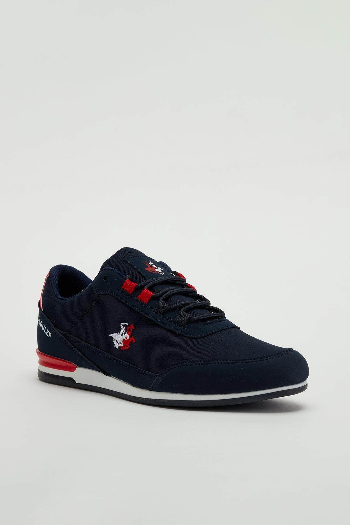 MUGGO Erkek Lacivert Bağcıklı Sneaker Mgbarney01 1