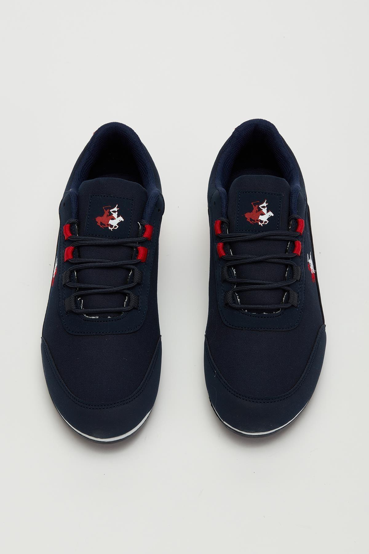 MUGGO Erkek Lacivert Bağcıklı Sneaker Mgbarney01 2