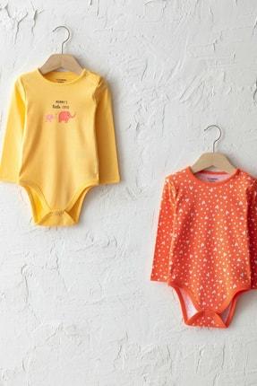 LC Waikiki Kız Bebek Pastel Sarı Fxd Bebek Body & Zıbın