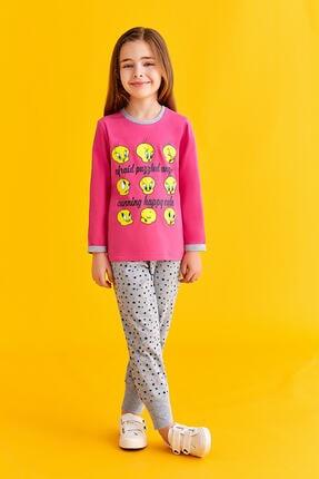 TWEETY Lisanslı Kız Çocuk Pijama Takımı Fuşya