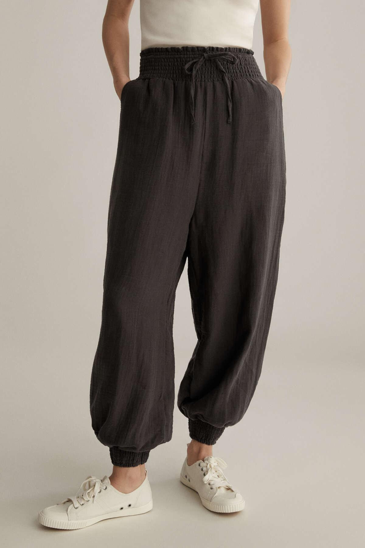 Oysho %100 Pamuklu Şifon Baggy Pantolon