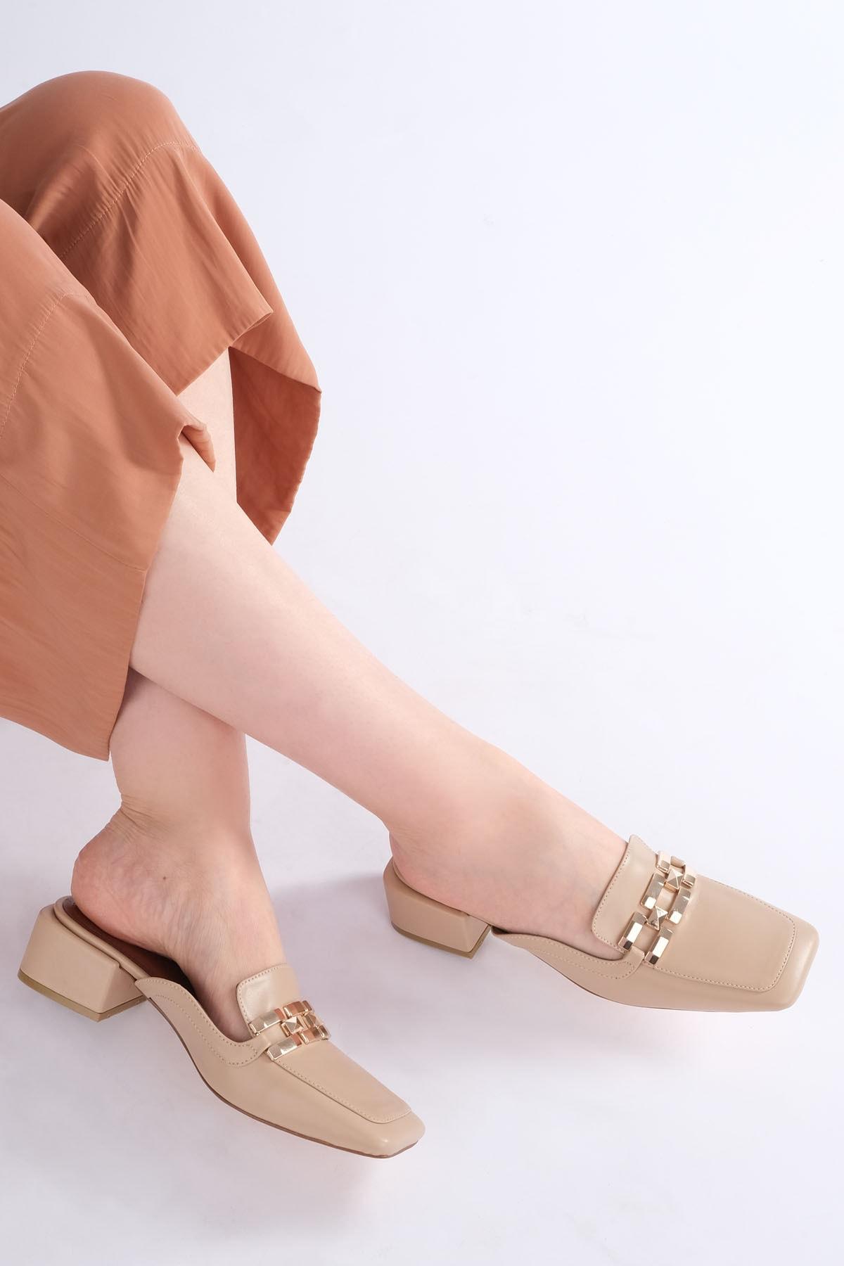 Marjin Berma Kadın Topuklu Terlikbej 2