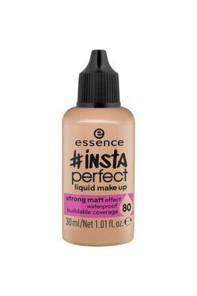 Essence Likit Mat Fondöten Insta Perfect Liquid Make Up 80 30 ml  4059729020970