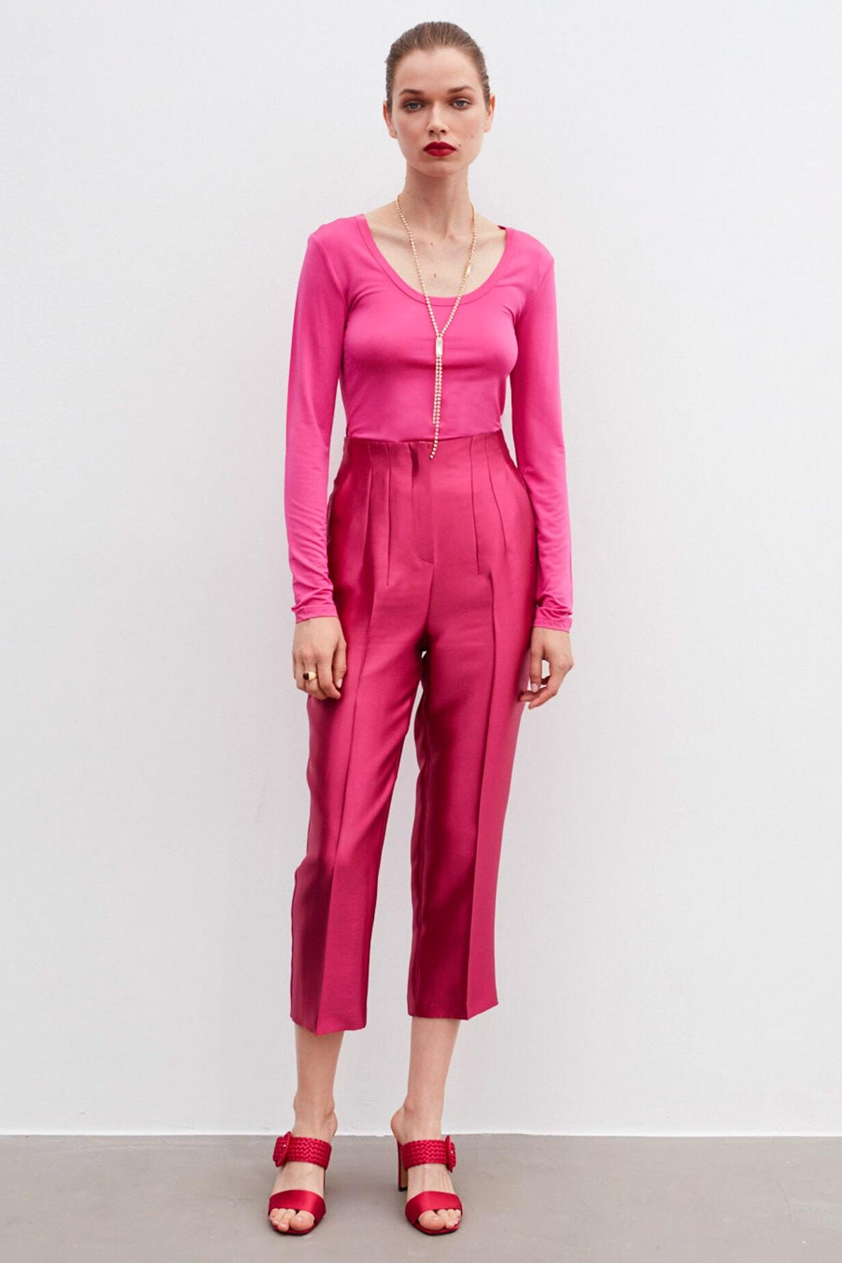 İpekyol Kadın Geniş Yaka Basic Bluz 2